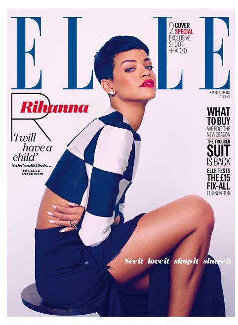 Rihanna for ELLE UK April 2013 by Mariano Vivanco