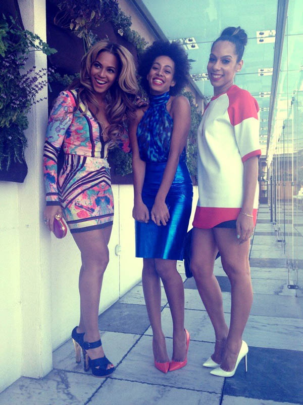 Beyoncé, Solange, and music director, Melina Matsoukas attend Roc Nation's 2013 Pre-Grammy Brunch.