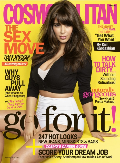 Kim Kardashian Cosmopolitan April 2013 Cover