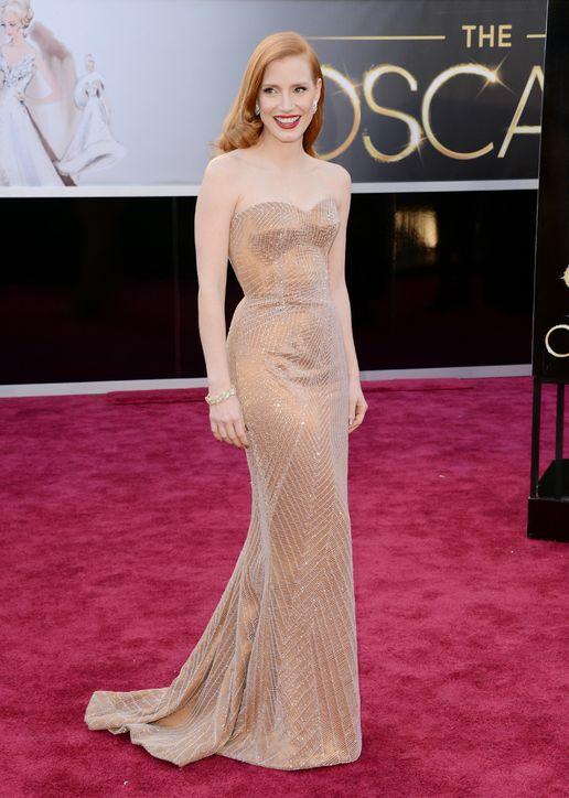 Oscars 2013 Jessica Chastain jinnaloves.comPic1