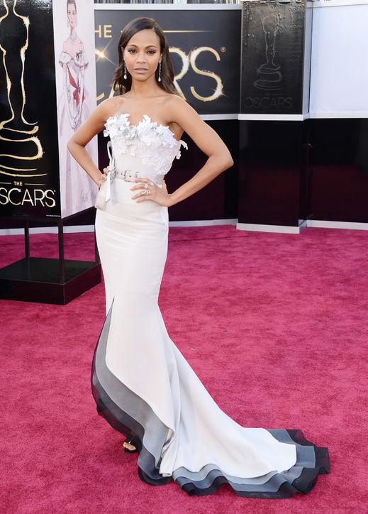 Oscars 2013 Zoe Saldana jinnaloves.comPic1