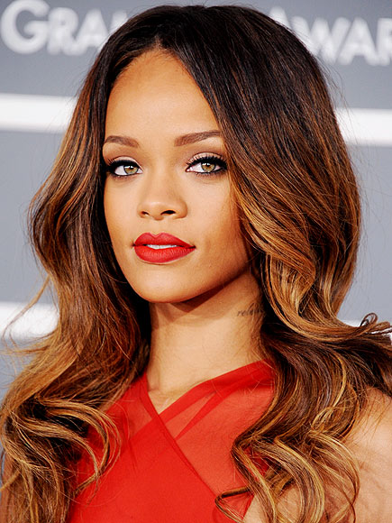 Rihanna's waves and flawless makeup