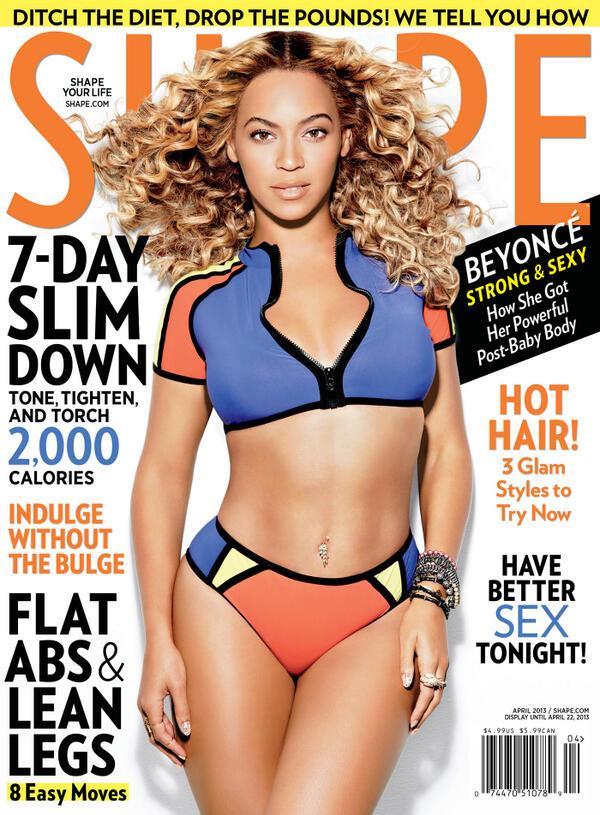 Beyoncé Covers Shape Magazine April 2013