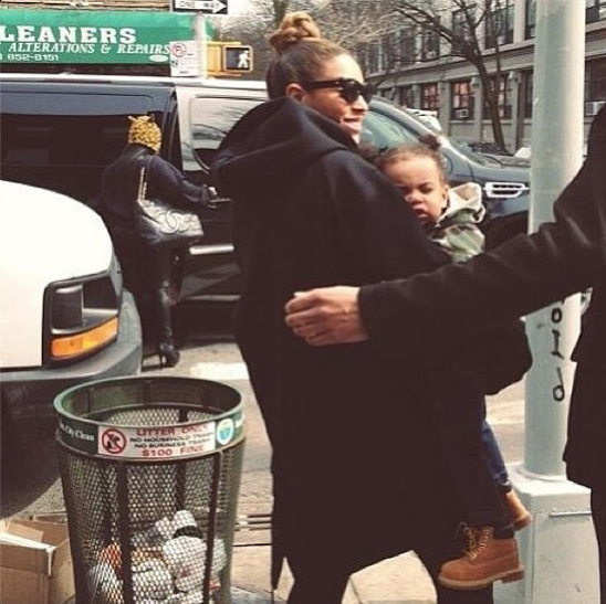 Beyoncé and Blue Ivy Carter head to brunch in BK