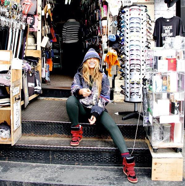 Beyoncé Chills on Canal Street in her hubby's hoodie and Isabel Marant Bekkett Sneakers