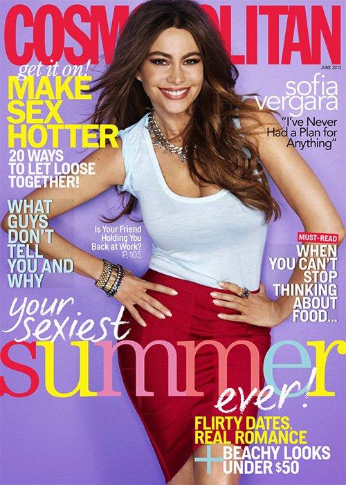 Sofia Vergara Covers Cosmopolitan June 2013