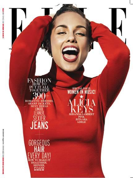 Alicia Keys Covers Elle's  May 2013 Women in Music Issue www.jinnaloves.com