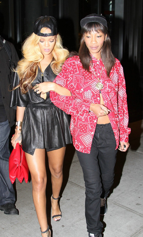 Rihanna and Melissa in New York City Pic1