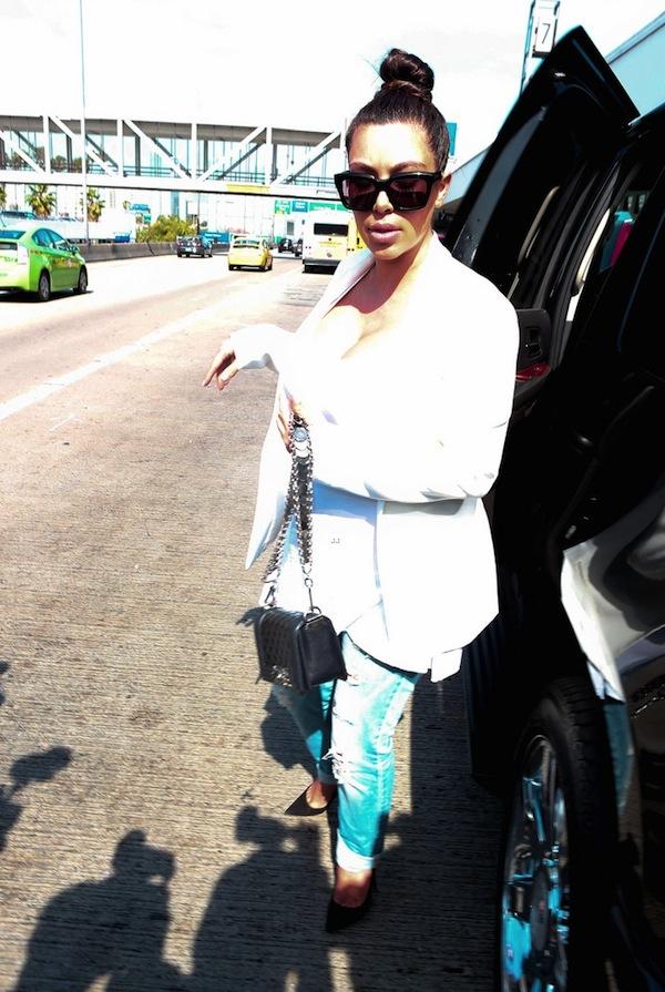 Kim Kardashian at LAX Airport www.jinnaloves.com