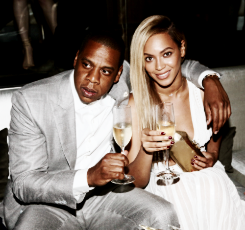Beyoncé at the 40/40 Club in Roberto Cavalli Spring 2013 White Dress