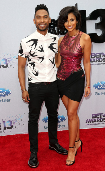 2013 BET Awards Miguel and Girlfriend