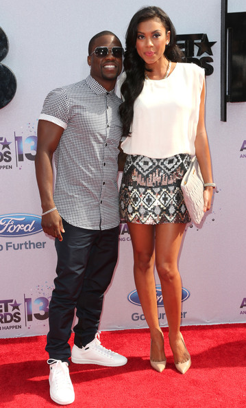 2013 BET Awards Kevin Hart and Girlfriend