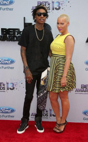 2013 BET Awards Amber Rose and Wiz Khalifa