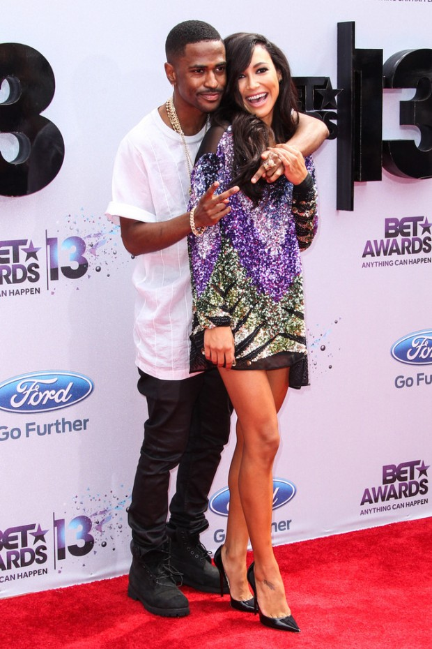 2013 BET Awards Big Sean and Naya Rivera