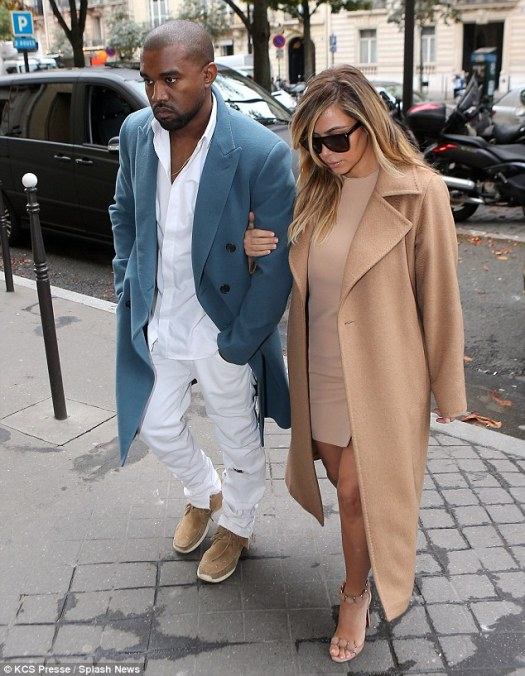 Kim and Kanye in Paris for Fashion Week 2013 www.jinnaloves.comPic3