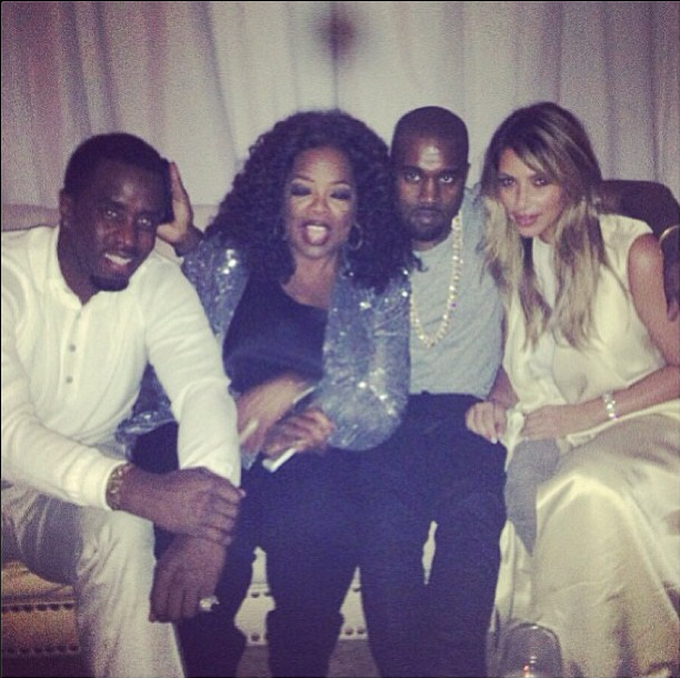 Diddy, Oprah, Kanye West, and Kim Kardashian www.jinnaloves.comPic1