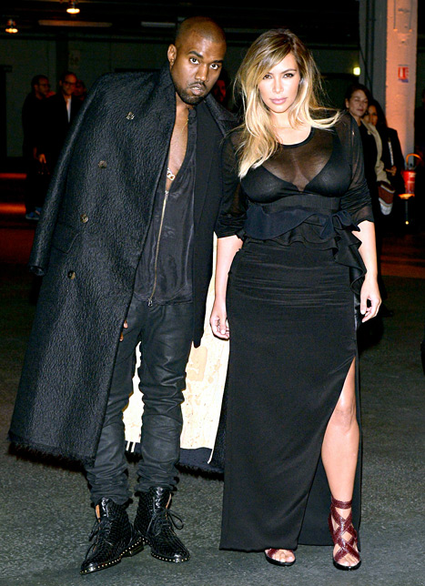 Kim and Kanye in Paris for Fashion Week 2013 www.jinnaloves.comPic1
