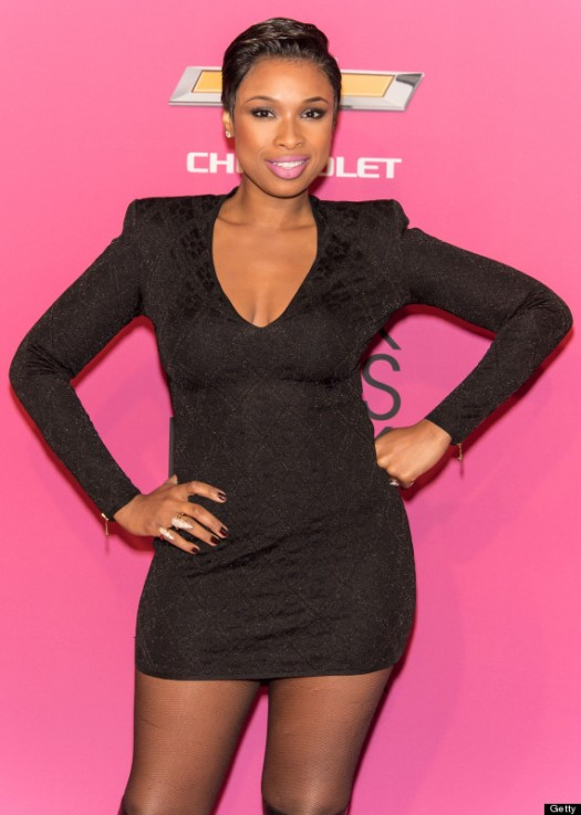 Jennifer Hudson Pixie Cut Debut on Black Girls Rock! 2013 Red Carpet www.jinnaloves.com
