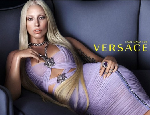 Lady Gagamfor Versaces Spring 2014 Ad Campaign www.jinnaloves.comPic1