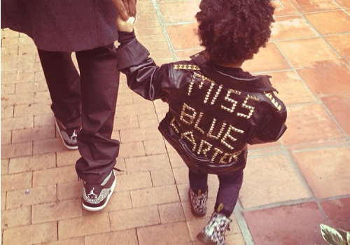 Best of 2013 Celebrity Instagram Pics Blue and Jay Z www.jinnaloves.com