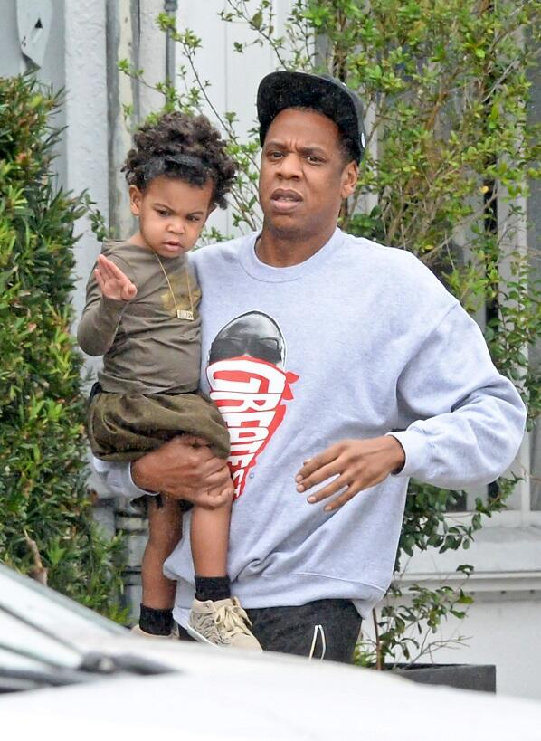 Blue Ivy and Jay Z go to lunch www.jinnaloves.com