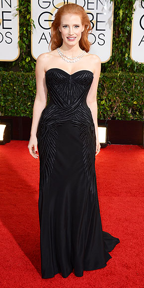 Jessica Chastain Golden Globes 2014 www.jinnaloves.com
