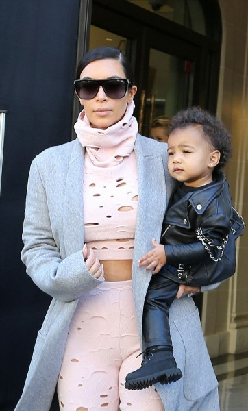 Kim Kardashian West and North West in Paris