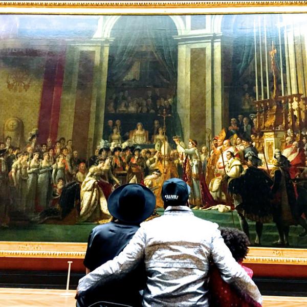 The Carters Visit Museum in Paris Pic1