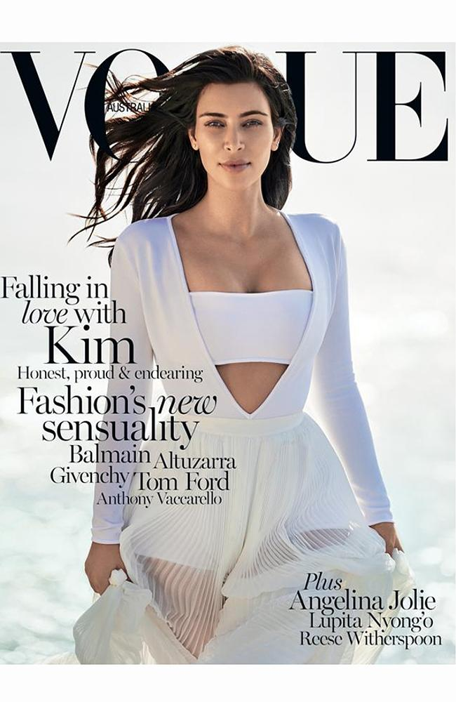 Kim Kardashian West Covers Vogue Australia Feb 2015