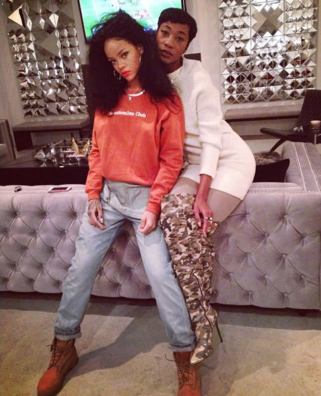 Rihanna Celebrates Thanksgiving 2014 www.jinnaloves.com Pic1