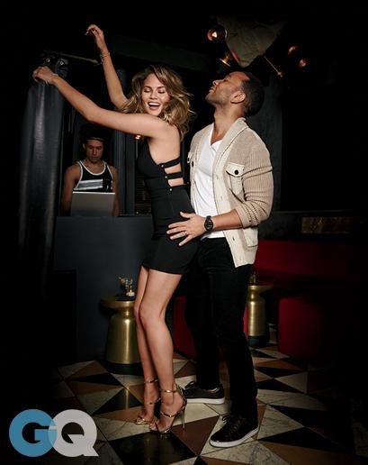 John Legend and Chrissy Teigen for GQ Mag