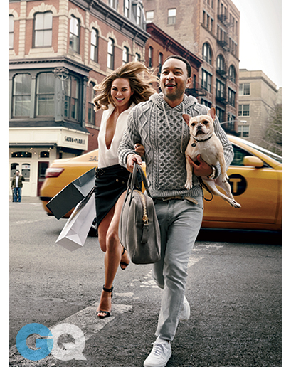 John Legend and Chrissy Teigen for GQ Mag3