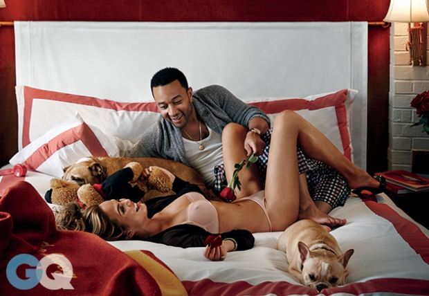 John Legend and Chrissy Teigen for GQ Mag5
