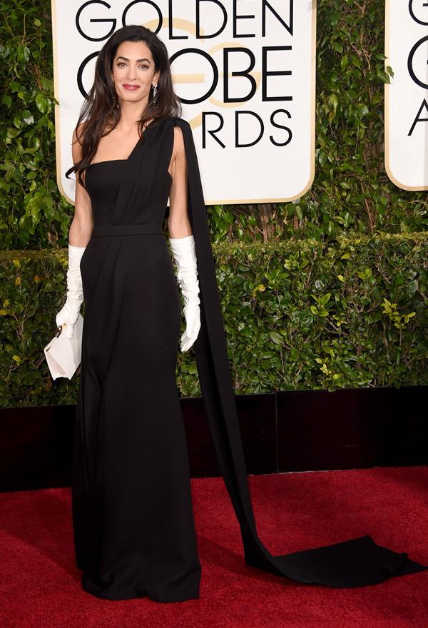 Amal Alauddin Clooney Golden Globes 2015