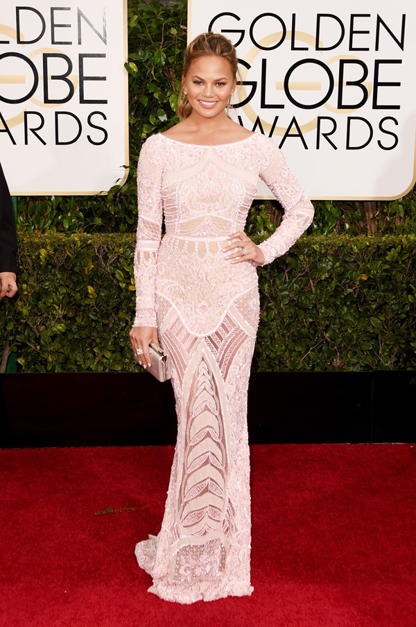 Chrissy Teigen Golden Globes 2015