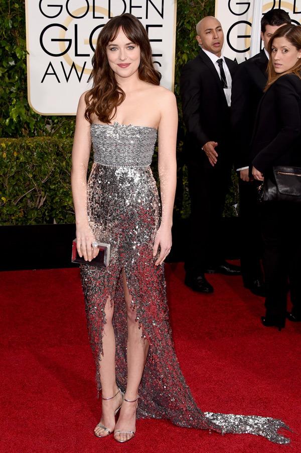 Dakota Johnson Golden Globes 2015