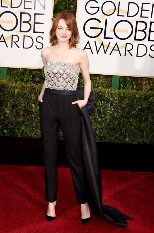 Emma Stone Golden Globes 2015