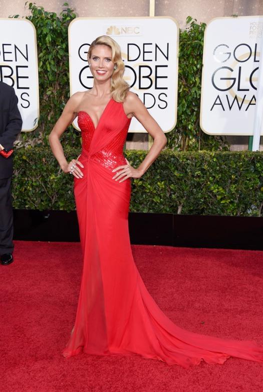 Heidi Klum Golden Globes 2015
