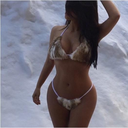 Kim Kardashian West Rocks Furkini2