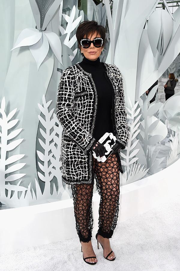 Kris Jenner Paris Fashion Week Chanel Show
