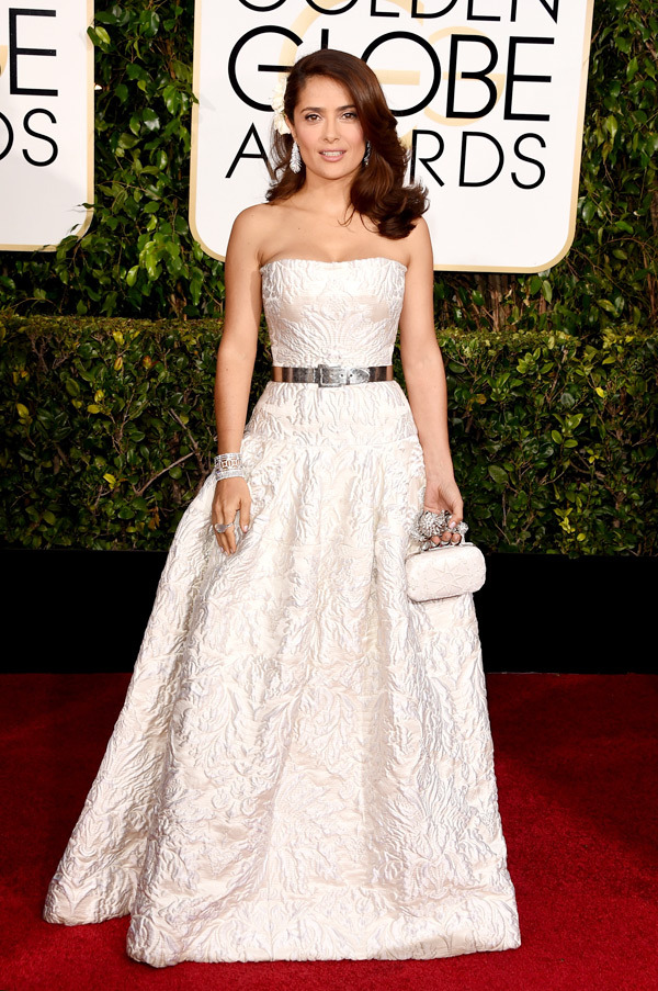 Salma Hayek Golden Globes 2015