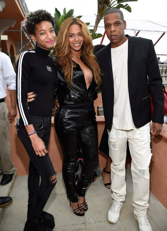 Beyonce, Jay Z and Williow Smith Roc Nation Brunch