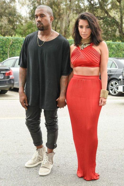 Kanye West and Kim Kardashian West Roc Nation Brunch