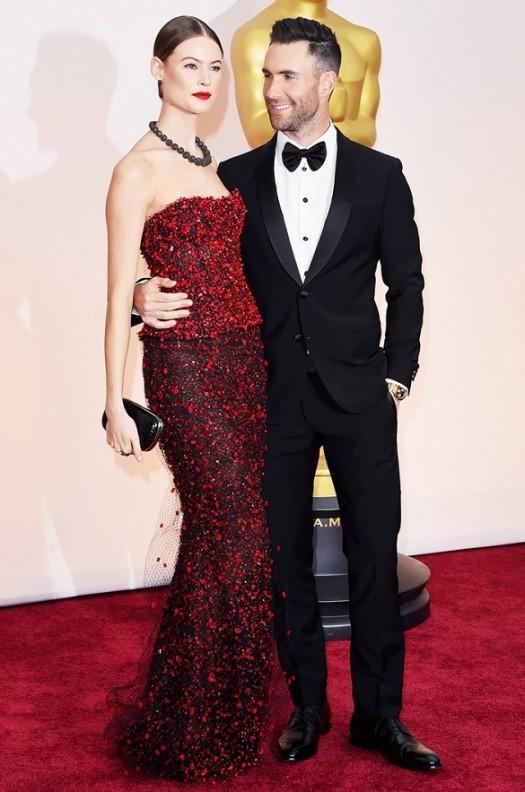 Behati Pinsloo and Adam Levine Oscars 2015