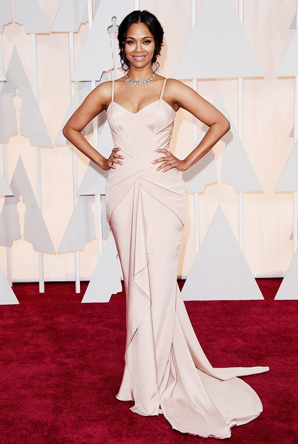 Zoe Saldana Oscars 2015