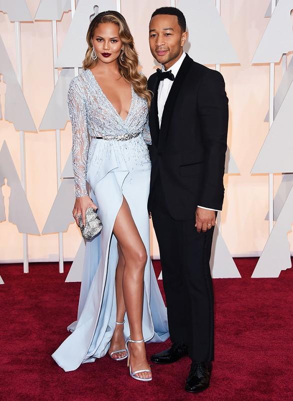 Chrissy Teigen and John Legend Oscars 2015