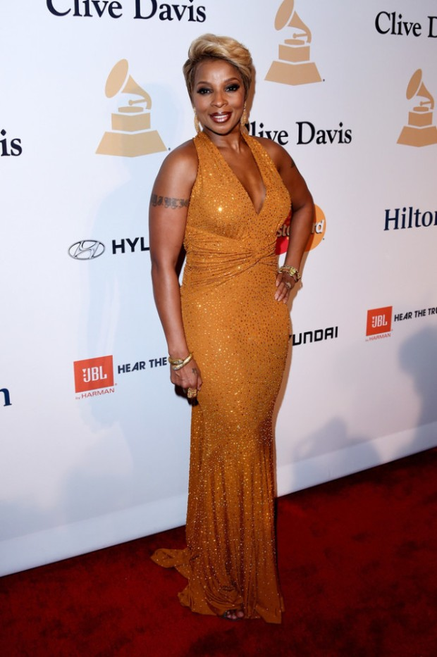 Mary J Blige Pre-Grammy 2015