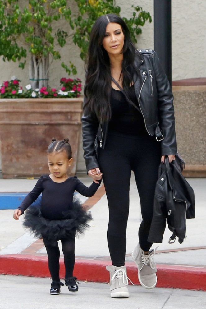 Kim Kardashian picks up tutu-clad North West from a dance class
