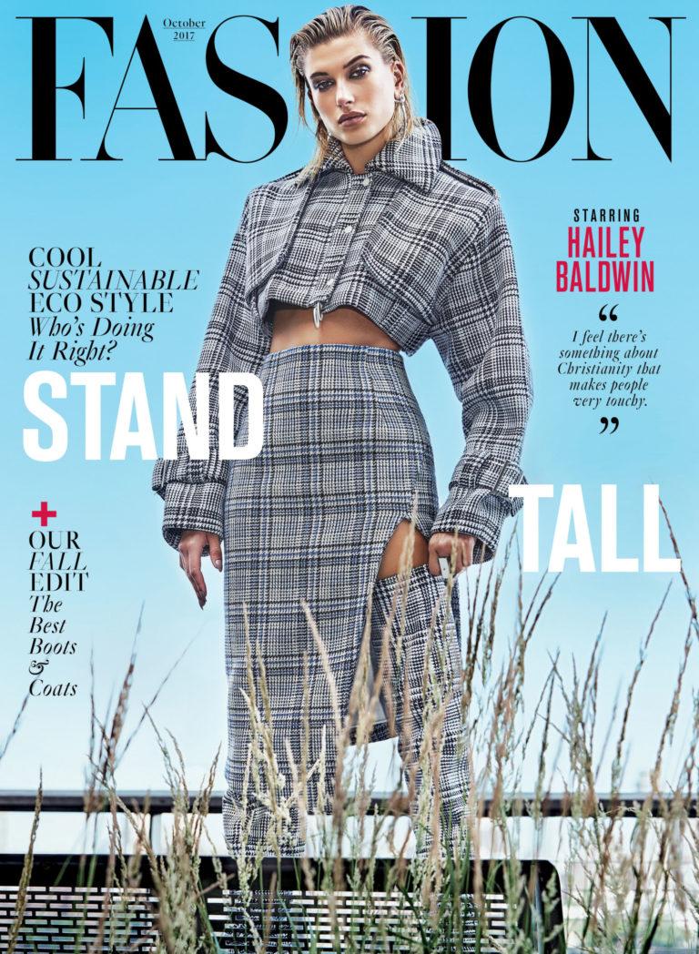 MAG NEWS: HAILEY BALDWIN COVERS FASHION MAGAZINE'S OCTOBER ...