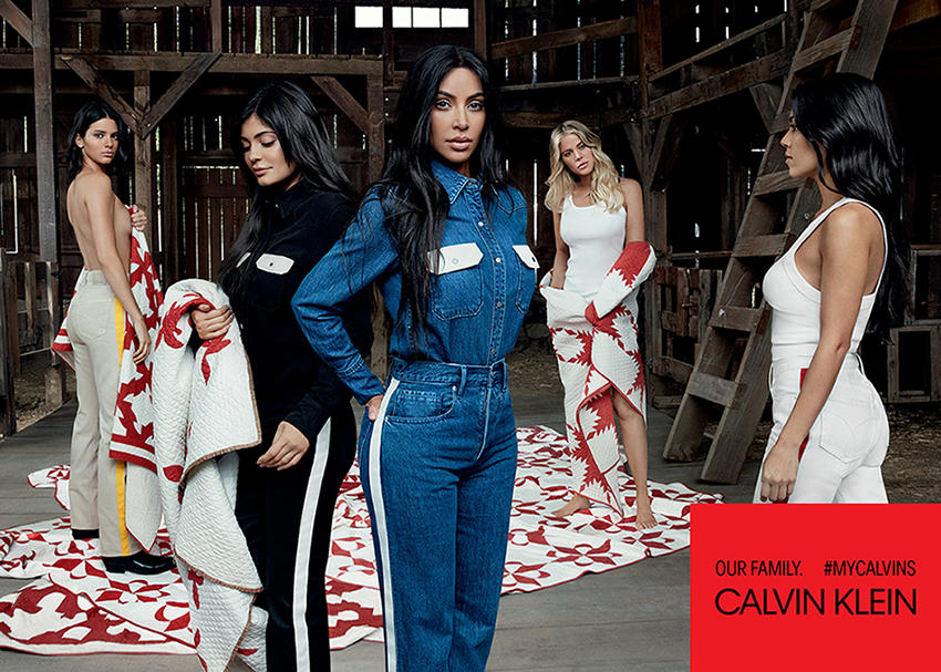 669eb38c9548bf The Kardashian-Jenner girls are the newest set of famous faces to appear in  the  MyCalvins campaign. The girls were photographed by Willy Vanderperre.